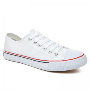 Classic Low-top Canvas Sneakers - White - 40