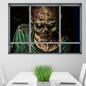 Halloween Window Zombie Removable 3D Wall Art Sticker