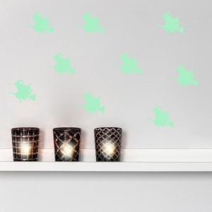 Home Decoration Halloween Witch Luminous DIY Wall Stickers - NEON GREEN