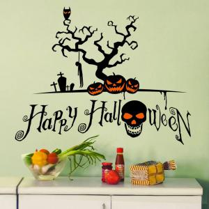 Home Decor Bricolage Stickers de mur en forme de citrouille de Halloween -