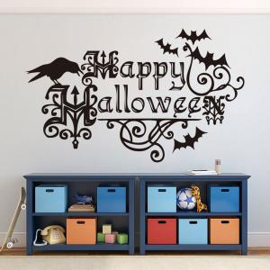 Home Decor DIY Happy Halloween Shape Stickers muraux -