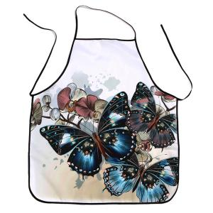 Vintage Butterfly Print Waterproof Kitchen Apron