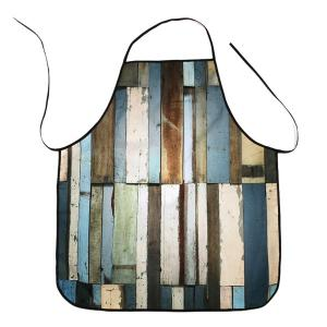 Wood Flooring Print Waterproof Kitchen Apron