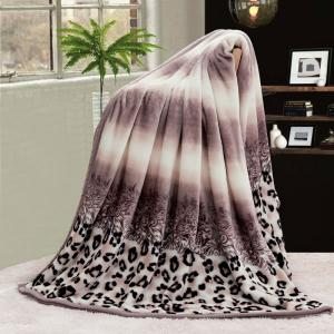 Leopard Print Bed Throw Blanket - Colormix - Double