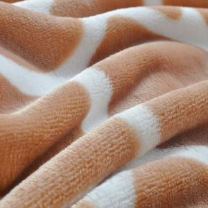 Giraffe Grain Print Bed Throw Blanket - GIRAFFE DOUBLE