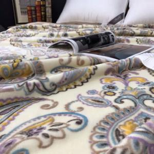 Flower Print Throw Naked Sleep Blanket - PALOMINO EURO KING