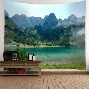 Landscape Pattern Waterproof Wall Art Tapestry - GREEN W79 INCH * L71 INCH
