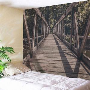 Hanging Woody Bridge Decorative Wall Tapestry - Dun - W91 Inch * L71 Inch