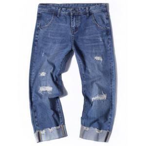 Distressed Wide Leg Nine Minutes of Jeans