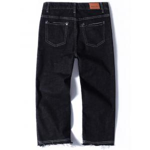 Zip Fly Straight Neuf Minutes of Jeans - Noir 32