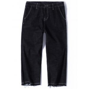 Zip Fly Straight Nine Minutes of Jeans - Black - 38