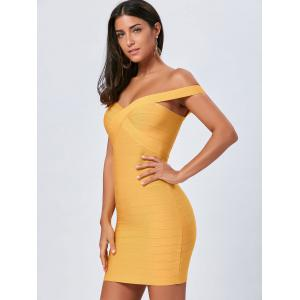 Night Out Off The Shoulder Bandage Dress -