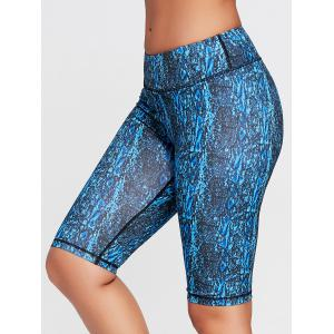 Abstract Printed Tight Workout Shorts