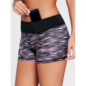 Sports Colorful Marled Mini Tight Shorts