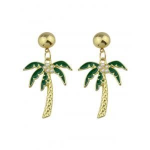 Faux Pearl Embellished Coconut Tree Pendant Earrings