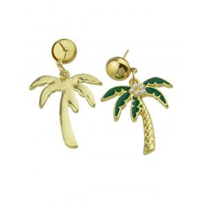 Faux Pearl Embellished Coconut Tree Pendant Earrings -