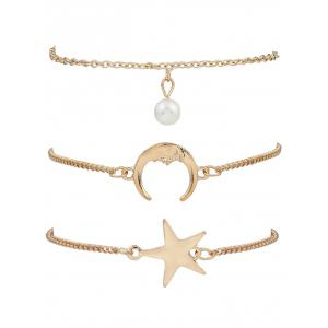 3 PCS Star Moon Bracelets