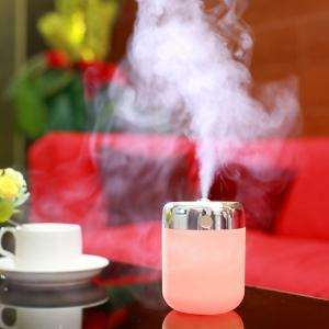 Oblique Hole Air Humidifier With Color Changing LED Light - Pink
