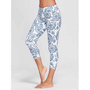 Paisley Printed High Waist Stretch Yoga Leggings