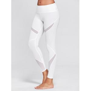 High Waisted Mesh Panel Workout Leggings