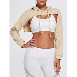Open Front Sports Long Sleeve Cropped Hoodie