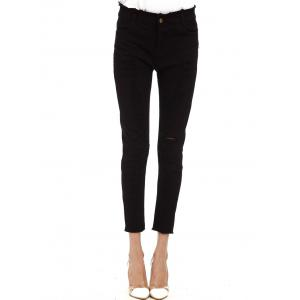 Ripped Cropped Cigarette Pants