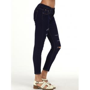 Ripped Cigarette Ankle Jeans -