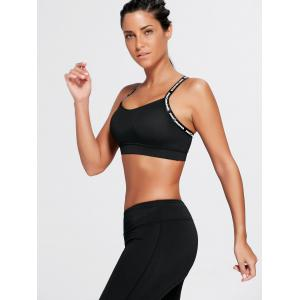Criss Back Padded Workout Bra - BLACK M