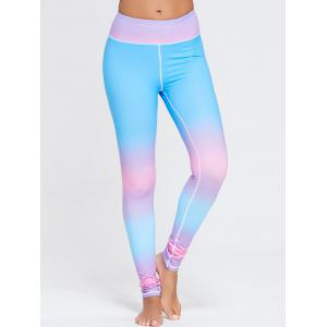 Rainbow Printed Ombre Gym Leggings -