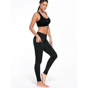 Stretchy Side Pocket Workout Leggings -
