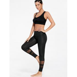 See Through  Mesh Insert Sports Tights -