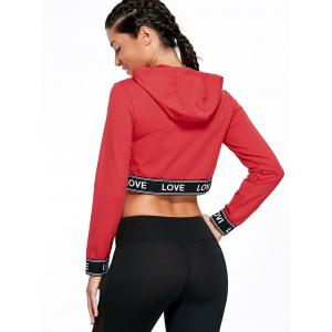 Balance Letter Graphic Sports Crop Hoodie -