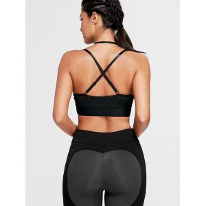 Cross Back Plunge Sports Strappy Bra -