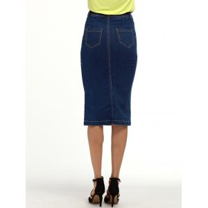 Longueur au genou Denim Pencil Jupe -