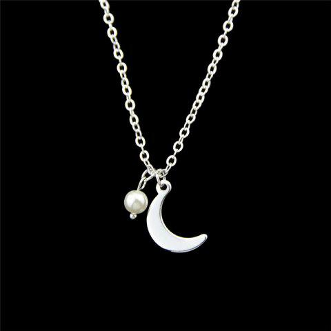 Shops Moon Pendant Necklace SILVER