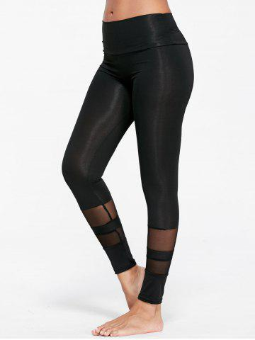 Hot See Through  Mesh Insert Sports Tights