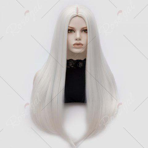 Outfits Long Middle Part Tail Adduction Straight Cosplay Anime Wig - OFF-WHITE  Mobile