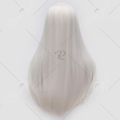 Buy Long Middle Part Tail Adduction Straight Cosplay Anime Wig - OFF-WHITE  Mobile