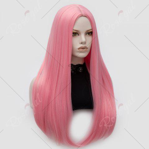 Buy Long Middle Part Tail Adduction Straight Cosplay Anime Wig - PINK  Mobile