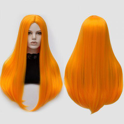 Longue partie moyenne Partie Adduction Straight Cosplay Anime Wig