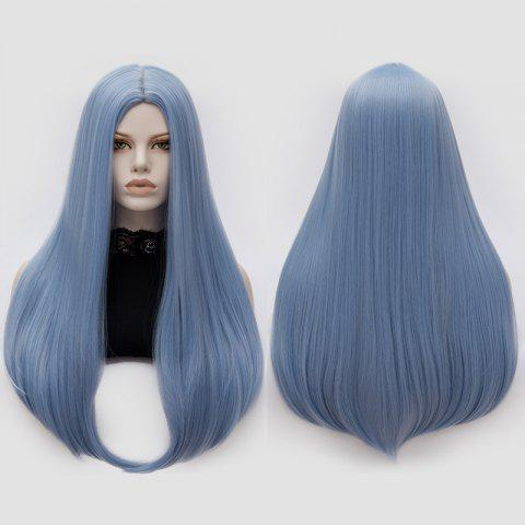 Longue partie moyenne Partie Adduction Straight Cosplay Anime Wig Bleu Ciel