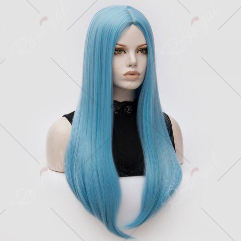 Discount Long Middle Part Tail Adduction Straight Cosplay Anime Wig - CLOUDY  Mobile