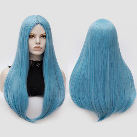 Sale Long Middle Part Tail Adduction Straight Cosplay Anime Wig - CLOUDY  Mobile