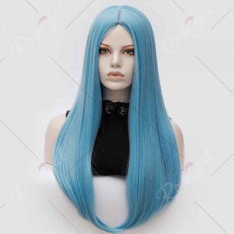 Outfits Long Middle Part Tail Adduction Straight Cosplay Anime Wig - CLOUDY  Mobile