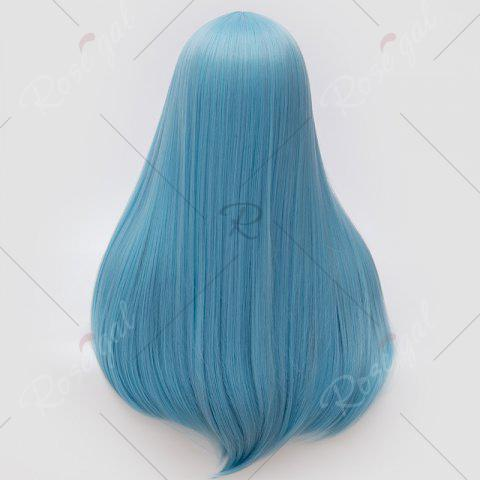Fancy Long Middle Part Tail Adduction Straight Cosplay Anime Wig - CLOUDY  Mobile