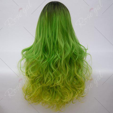Shops Long Middle Part Colormix Shaggy Layered Wavy Cosplay Anime Wig - SHAMROCK  Mobile