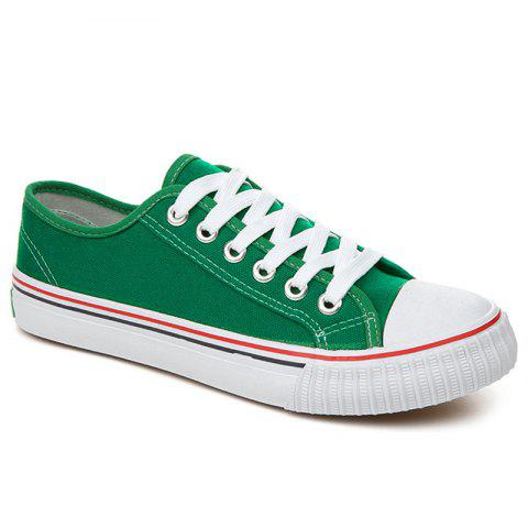 Shop Low-top Canvas Sneakers GREEN 37