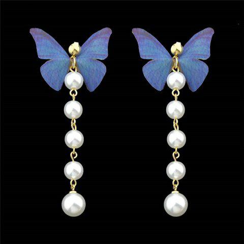 Outfits Artificial Pearl Butterfly Drop Earrings
