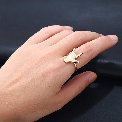 New Love you Hand Gesture Finger Ring - GOLDEN  Mobile