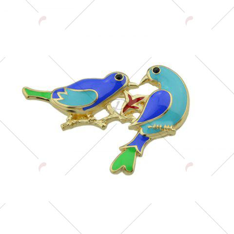 Affordable Alloy Double Bird Shape Brooch - GOLDEN  Mobile